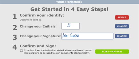 BULL Forms Texas TREC Forms Esignature Steps