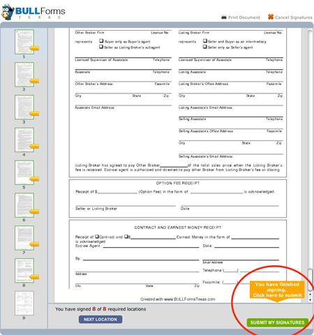BULL Forms Texas TREC Forms E-signatures Complete