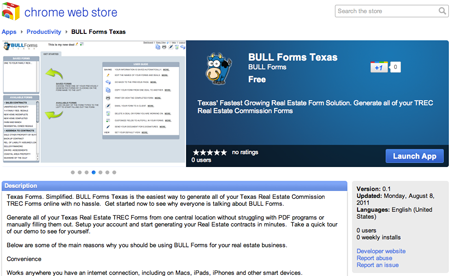 BULL Forms Texas Chrome Web Store TREC Forms